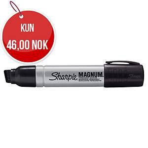 Permanent merkepenn Sharpie Industrial Metallic Magnum, skrå spiss, sort