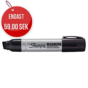 Permanent industripenna Sharpie industriel metal magnum, sned spets, svart