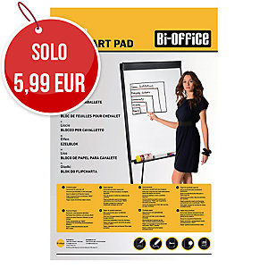 Blocco per lavagne a fogli mobili Bi-Office bianco 60g/mq