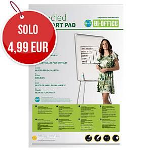 Blocco per lavagne a fogli mobili Bi-Office carta riciclata 55g/mq