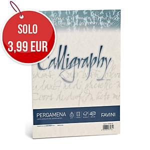 Carta colorata pergamena Favini Calligraphy A4 90 g/mq sabbia - risma 50 fogli