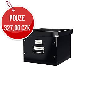 Krabice na závěsné obaly Leitz Click & Store, černá