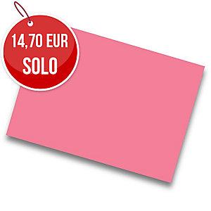 Pack de 25 cartulinas IRIS de  50x65 185g/m2 cm color fucsia