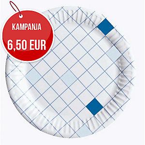 Huhtamäki kartonkilautanen 15 cm ruutu, myyntierä 1 kpl = 100 lautasta