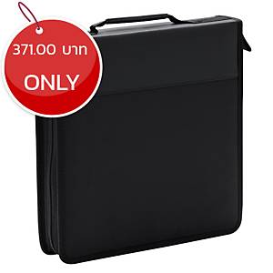 STORM QFB080 CD CASE WITH ZIP HOLDS 120 CDS BLACK