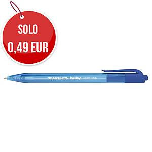 Penna a sfera a scatto PaperMate Inkjoy 100RT punta 1 mm blu