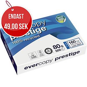 EVERCOPY PRESTIGE RECYCLED PAPER WHITE A4 80G  - REAM OF 500 SHEETS