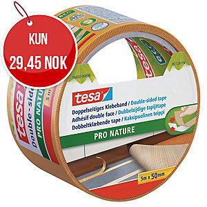 Dobbeltklebende tape Tesa ecoLogo, fikseringstape, 50 mm x 5 m
