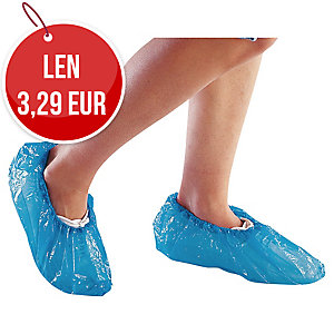 DELTAPLUS Jednorazové ochranné polyetylénové návleky na obuv, modré, 50 párov