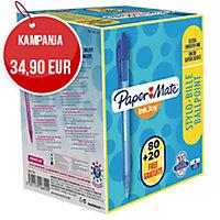 Papermate InkJoy 100RT kuulakärkikynä mekanismilla 0,8 mm sininen 1kpl=100kynää
