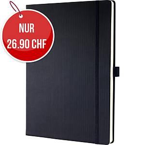 Notizbuch SIGEL Conceptum  A4, Hardcover, liniert, 194 Blatt, schwarz