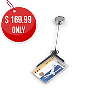 DURABLE SECURITY CARD HOLDER DE LUXE PRO REEL 54X85MM CHROME - PACK OF 10