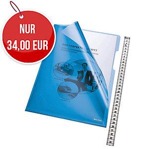 Bene Sichthüllen A4, aus Polypropylen, 150 μm, 100 Stück, blau