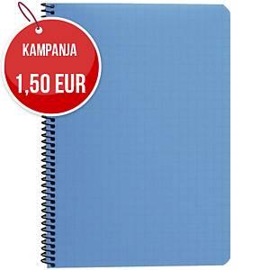Paperipiste kierrevihko A5/80 ruudutettu 7x7mm sininen