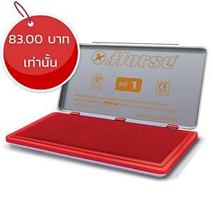 ตราม้า แท่นประทับ เบอร์1 ขนาด 7.4ซม.x15ซม. สีแดง