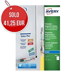 Etichetta magnetica Avery A4 bianco - conf. 5