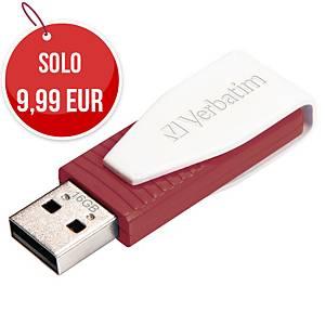 Memoria USB Verbatim Swivel 16 GB 2.0 rosso