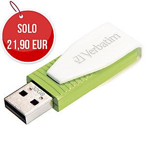 MEMORIA USB VERBATIM SWIVEL 2.0 32 GB VERDE