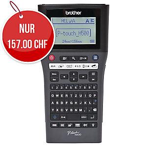 Beschriftungsgerät Brother P-touch H500, antrazith, mit QWERTZ-Tastatur