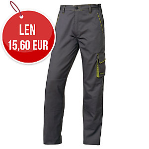 Pracovné nohavice DELTAPLUS PANOSTYLE M6PAN, veľkosť 2XL, sivo-zelené