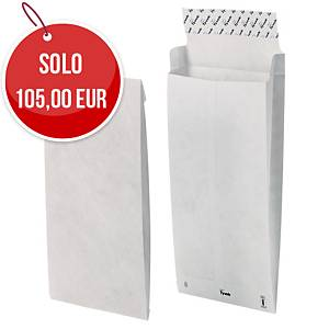 Buste a sacco in Tyvek 381 x 250 mm con soffietto 50 mm - conf. 100