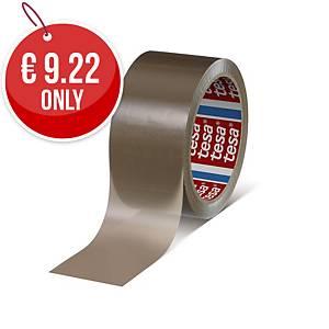 Tesa 4280 Carton Sealing PP Tape 50*66M Brown Pack of 6