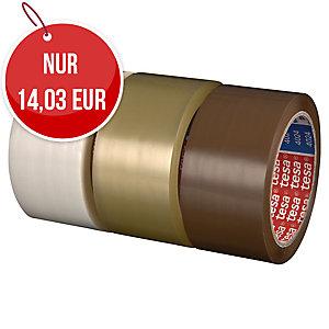 tesa 4024 Packband aus Polypropylen, 50 mm × 66 m, transparent, 6 Stück