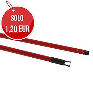 Manico per scope e mop Perfetto in metallo verniciato light 130 cm rosso