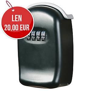 Bezpečnostná skrinka na kľúče oceľová, rozmer 100 x 65 x 35 mm