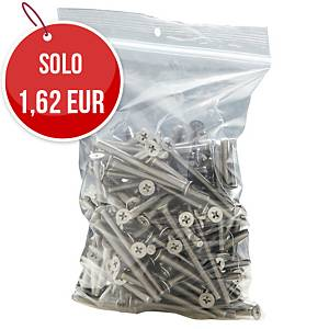 Sacchetti in plastica con chiusura a zip 50µ 100 x 150 mm - conf. 100
