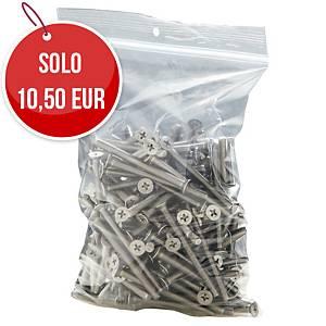 Sacchetti in plastica con chiusura a zip 50µ 300 x 400 mm - conf. 100