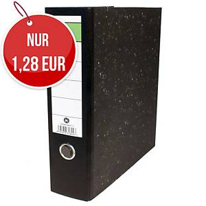 Hit Office Standardordner mit Rückenetikett, Rückenbreite: 8 cm, DIN A4, schwarz
