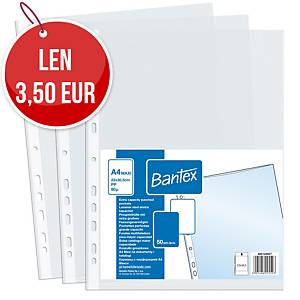 BANTEX euroobal A4+, čirý, 50 kusov