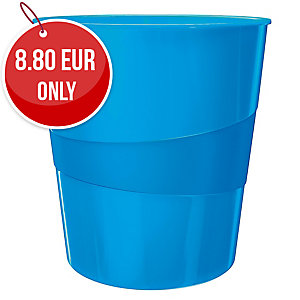 LEITZ WOW WASTE BIN BLUE