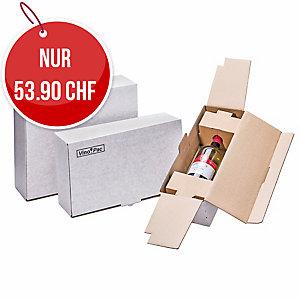 Weinversandverpackungen Brieger 986/1, für 1 Flasche, weiss, Pk. à 10 Stk.