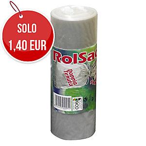 Sacchi spazzatura Rolsac 110 L trasparente - rotolo 10