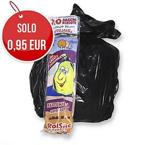 Sacchi spazzatura Rolsac 30 L nero - rotolo 20