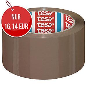 tesa® 4195 Verpackungsklebeband, PP, 50 mm x 66 m, braun, 6 Stück