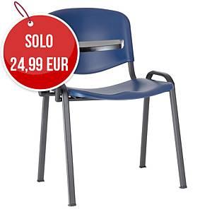 Sedia conferenza Seditaly blu (tavolino escluso)