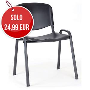 Sedia conferenza Seditaly nero (tavolino escluso)