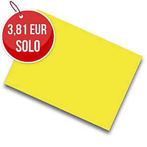 Pack de 25 cartulinas FABRISA 50x65 180g/m2 color amarillo
