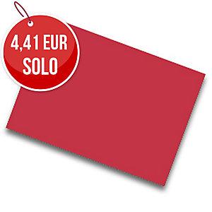 Pack de 25 cartulinas FABRISA 50x65 180g/m2 color rojo