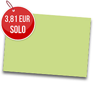 Pack de 25 cartulinas FABRISA 50x65 180g/m2 color verde claro