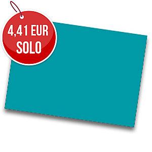 Pack de 25 cartulinas FABRISA 50x65 180g/m2 color turquesa