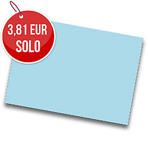 Pack de 25 cartulinas FABRISA 50x65 180g/m2 color azul