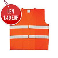 Reflexná bezpečnostná vesta oranžová