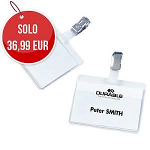 Portanome Durable con clip l 90 x h 60 mm - conf. 25