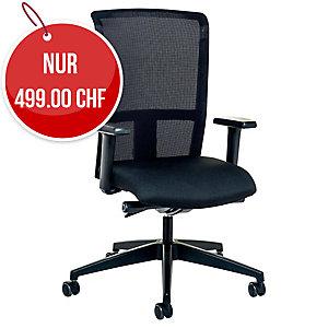 Bürostuhl Prosedia 3462, hohe Rückenlehne, schwarz