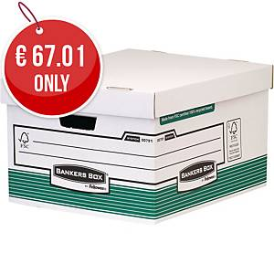 Fellowes Bankers Box Storage Box (Green/White) - Pack of 10
