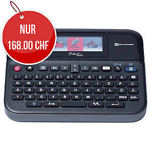 Beschriftungsgerät Brother P-touch D600VP, QWERTZ Tastatur, schwarz
